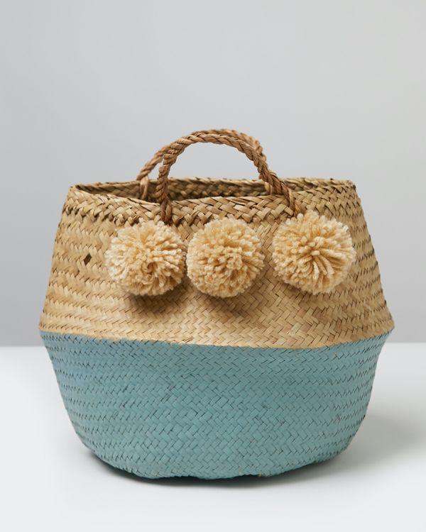 Carolyn Donnelly Eclectic Pom Pom Basket