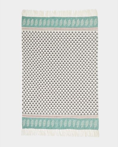 Carolyn Donnelly Eclectic Printed Woven Slub Throw