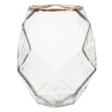 clear Carolyn Donnelly Eclectic Glass Vase With Prism Pattern