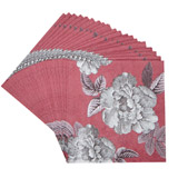 red Carolyn Donnelly Eclectic Paper Napkins - Pack Of 20