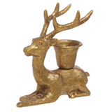 gold Carolyn Donnelly Eclectic Deer Candlestick Holder