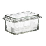 clear Carolyn Donnelly Eclectic Glass Vintage Butter Dish