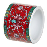 red Carolyn Donnelly Eclectic Ceramic Napkin Ring