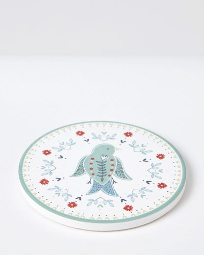 Carolyn Donnelly Eclectic Ceramic Circle Coaster