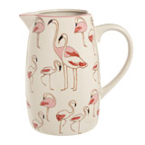 ivory Carolyn Donnelly Eclectic Flamingo Jug