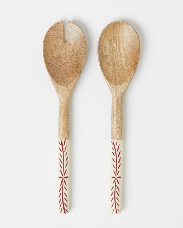 Carolyn Donnelly Eclectic Serving Spoons - Set Of 2