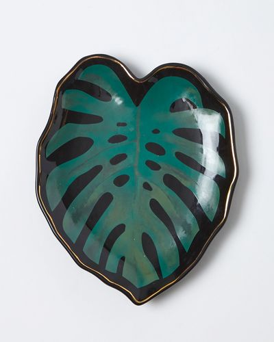 Carolyn Donnelly Eclectic Palm Leaf Snack Plate thumbnail