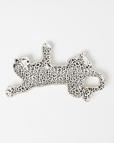 Carolyn Donnelly Eclectic Cheetah Shaped Platter thumbnail