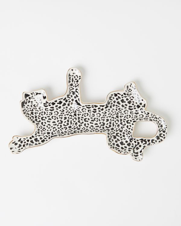 Carolyn Donnelly Eclectic Cheetah Shaped Platter