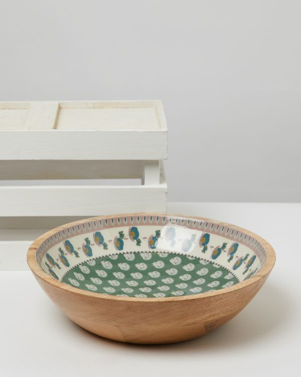 Carolyn Donnelly Eclectic Wooden Serving Bowl