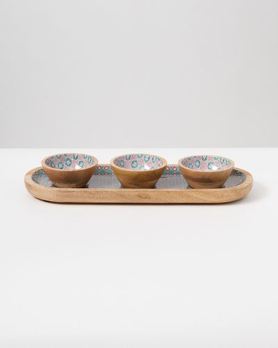 Carolyn Donnelly Eclectic Wooden Condiment Tray
