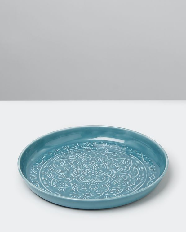 Carolyn Donnelly Eclectic Round Enamel Serving Tray