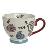blue Carolyn Donnelly Eclectic Floral Footed Mug