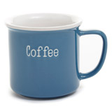blue Carolyn Donnelly Eclectic Typography  Mug