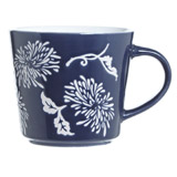navy Carolyn Donnelly Eclectic Embossed Mug