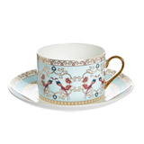 light-blue Carolyn Donnelly Eclectic Bone China Cup And Saucer
