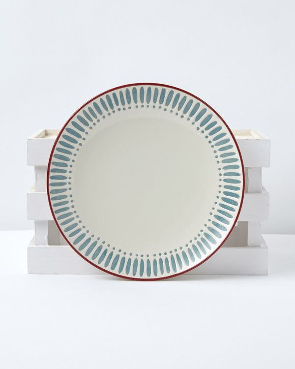 Carolyn Donnelly Eclectic Dash Dot Dinner Plate