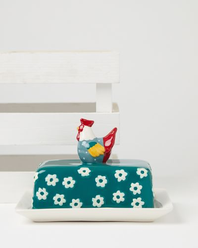 Carolyn Donnelly Eclectic Chicken Butter Dish