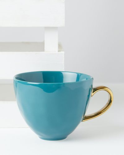 Carolyn Donnelly Eclectic Dimple Mug With Gold Handle thumbnail