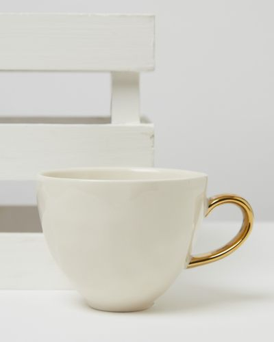 Carolyn Donnelly Eclectic Dimple Mug With Gold Handle