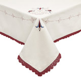 cream Carolyn Donnelly Eclectic Lucia Embroidered Tablecloth