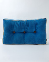 blue Carolyn Donnelly Eclectic Velvet Seatpad