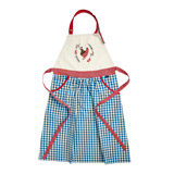 blue Carolyn Donnelly Eclectic Chicken Woven Apron