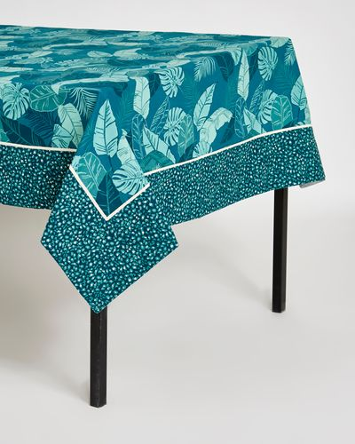 Carolyn Donnelly Eclectic Borneo Leaf Print Tablecloth