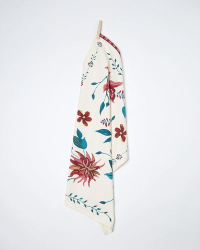 Carolyn Donnelly Eclectic Poppy Flat Weave Tea Towel