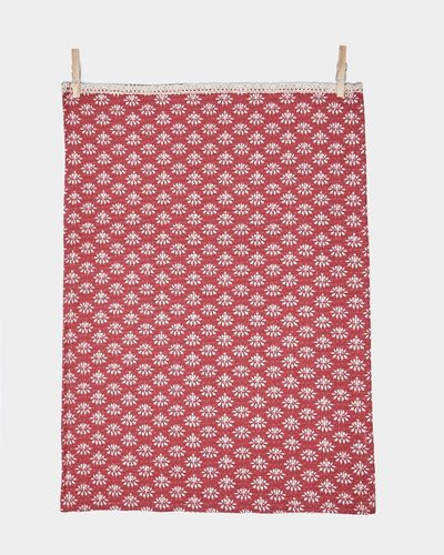 Carolyn Donnelly Eclectic Printed Waffle Tea Towel