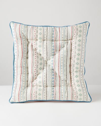Carolyn Donnelly Eclectic Posie Printed Cotton Seat Pad