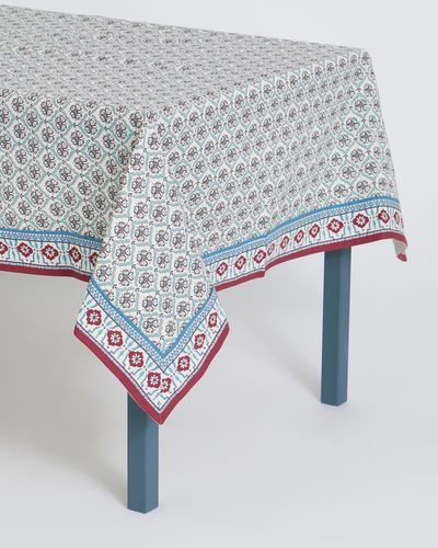 Carolyn Donnelly Eclectic Tile Printed Cotton Tablecloth