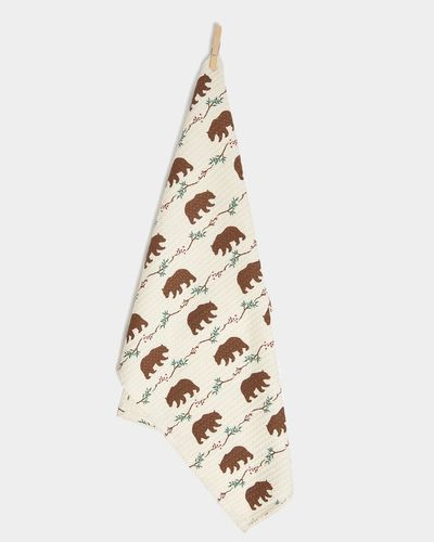 Carolyn Donnelly Eclectic Woodland Waffle Tea Towel