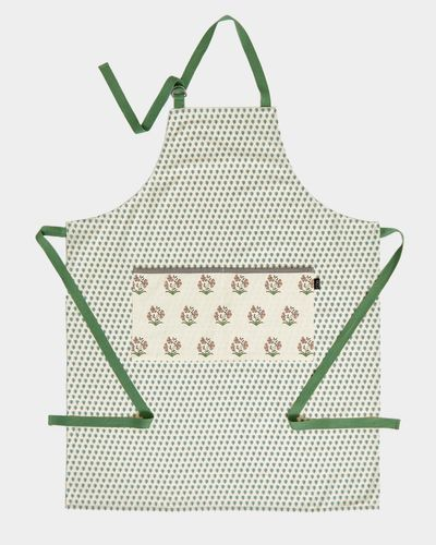 Carolyn Donnelly Eclectic Block Print Cotton Apron
