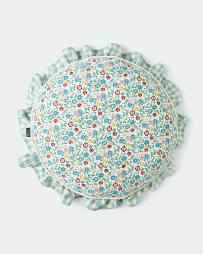 Carolyn Donnelly Eclectic Gingham Frill Seat Pad