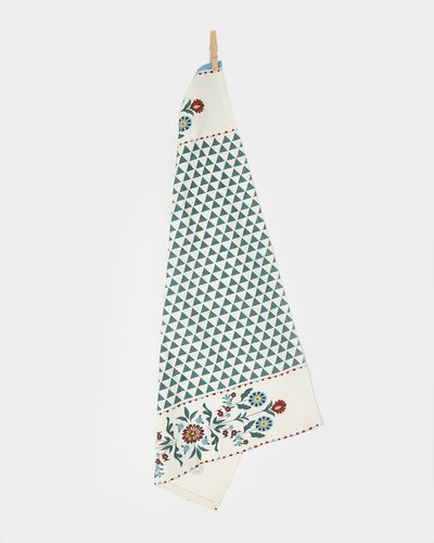 Carolyn Donnelly Eclectic Vintage Floral Printed Tea Towel