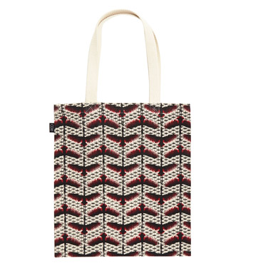 ivory Carolyn Donnelly Eclectic Embroidered Canvas Tote