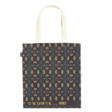black Carolyn Donnelly Eclectic Embroidered Canvas Tote