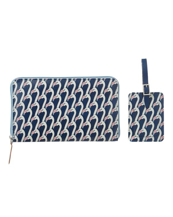 Carolyn Donnelly Eclectic Travel Wallet And Luggage Tag Set
