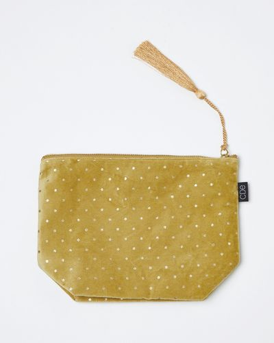 Carolyn Donnelly Eclectic Polka Dot Velvet Pouch
