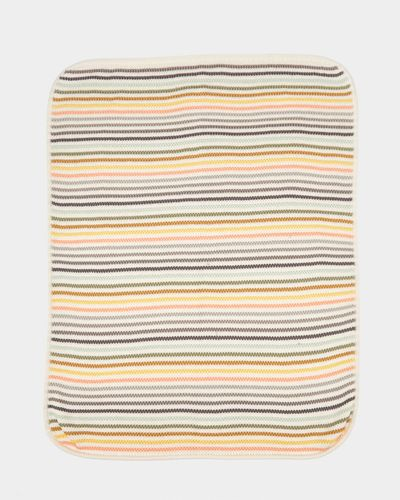 Carolyn Donnelly Eclectic Knitted Stripe Blanket