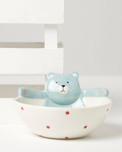 Carolyn Donnelly Eclectic Bear Ceramic Baby Bowl