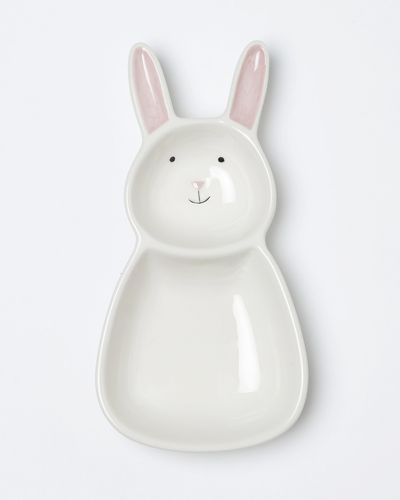 Carolyn Donnelly Eclectic Bunny Ceramic Baby Bowl