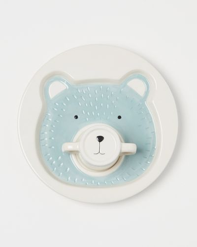 Carolyn Donnelly Eclectic Bear Plate With Mug