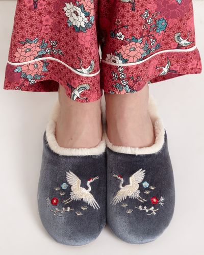 Carolyn Donnelly Eclectic Crane Slipper