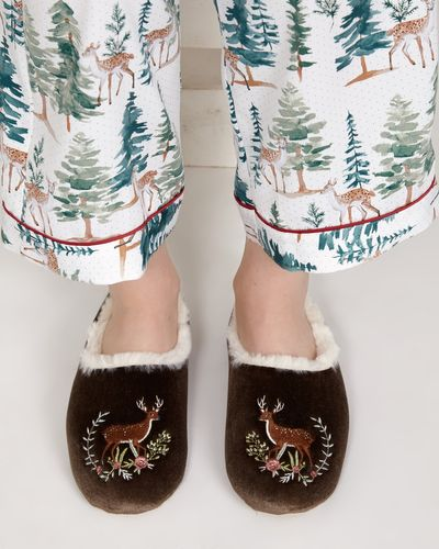 Carolyn Donnelly Eclectic Deer Slipper