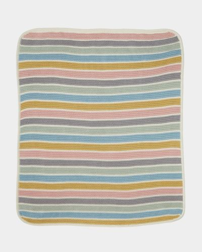 Carolyn Donnelly Eclectic Knitted Stripe Blanket thumbnail