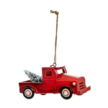 redCarolyn Donnelly Eclectic Metal Truck With Tree