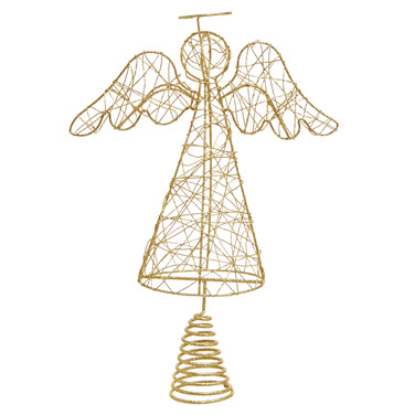 goldCarolyn Donnelly Eclectic Angel Tree Topper