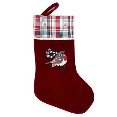 red Carolyn Donnelly Eclectic Christmas Stocking